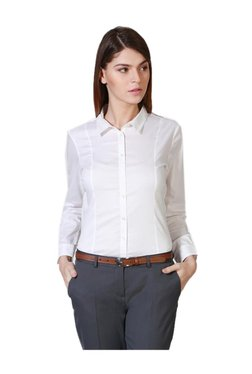 Solly By Allen Solly White Full Sleeves Shirt