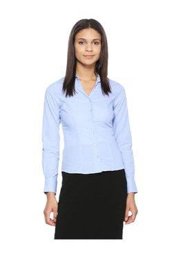Van Heusen Blue Full Sleeves Cotton Shirt
