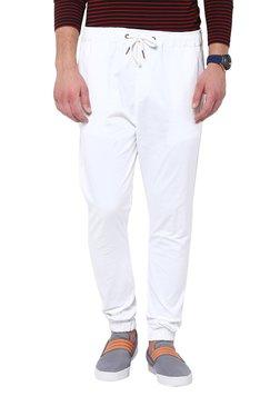Hypernation White Cotton Jogger Pants