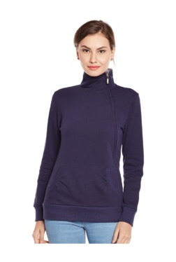 MEEE Navy Turtle Neck Fleece Sweatshirt
