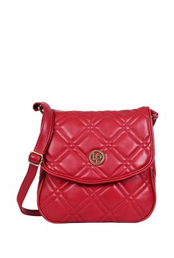 Lino Perros Red Quilted Sling Bag