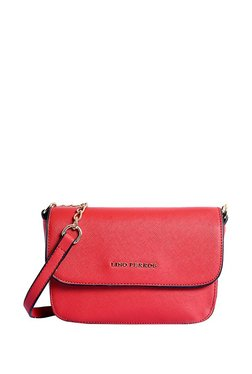 Lino Perros Red Solid Sling Bag