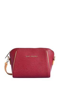 Lino Perros Burgundy Paneled Sling Bag