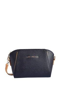 Lino Perros Black Paneled Sling Bag