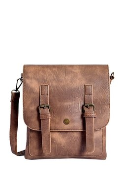 Lino Perros Brown Distressed Sling Bag