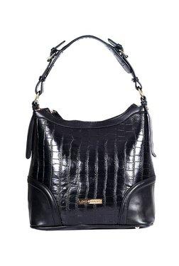 Lino Perros Black Textured Hobo Bag