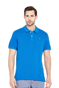 Tom Tailor Blue Cotton Polo T-Shirt