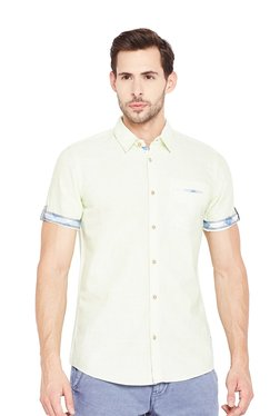 Tom Tailor Green Short Sleeves Cotton Shirt