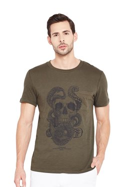 Tom Tailor Brown Round Neck Short Sleeves T-Shirt