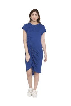 Globus Blue Knee Length Dress - Mp000000003274890