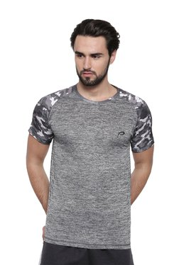 Proline Grey Printed Round Neck T-Shirt