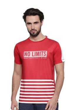 Proline Red Printed Round Neck T-Shirt