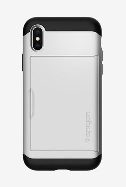Spigen Slim Armor CS Case For IPhone X (2017) (Satin Silver)