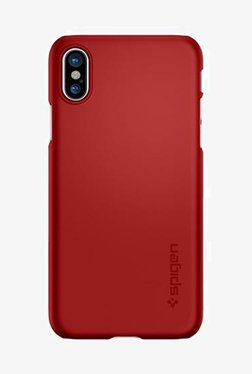 Spigen Thin Fit Case For IPhone X (2017) (Metallic Red)