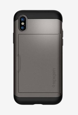 Spigen Slim Armor CS Case For IPhone X (2017) (Gunmetal)
