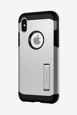 Spigen Tough Armor Case For IPhone X (2017) (Satin Silver)