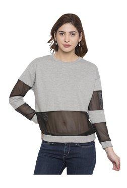 Globus Grey Textured Cotton Top