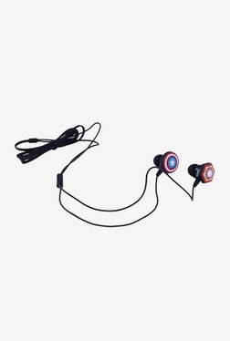 Thrumm Buster Captain America and Iron Man Wired In Ear Headphone with Mic (Black)