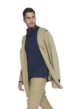 ETA By Westside Beige Slim Fit Jacket