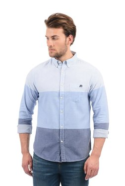 Aeropostale Blue Striped Button Down Collar Shirt