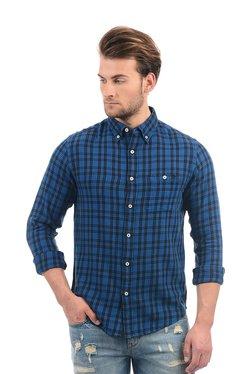 Aeropostale Blue Cotton Button Down Collar Shirt