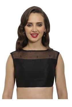 Just B Black Embellished Polyester Blouse