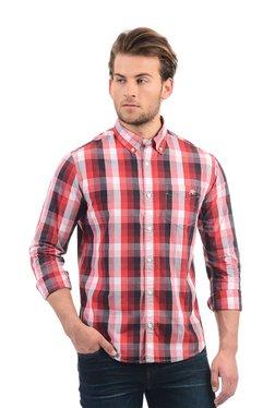 Aeropostale Red Cotton Button Down Collar Shirt