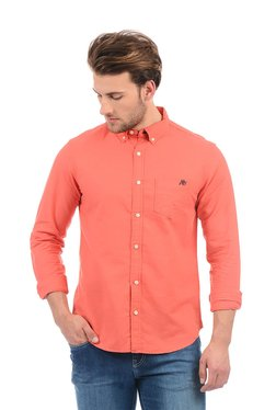 Aeropostale Coral Cotton Button Down Collar Shirt