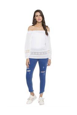 Globus Blue Skinny Fit Distressed Jeans - Mp000000003284995