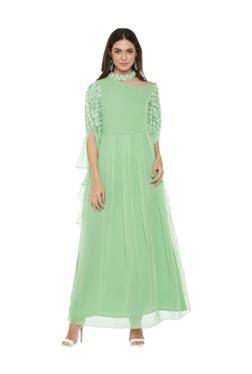 Athena Green Embellished Maxi Dress