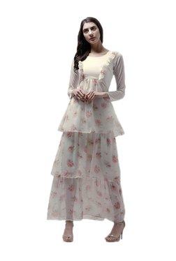 Athena Off White Floral Print Maxi Dress