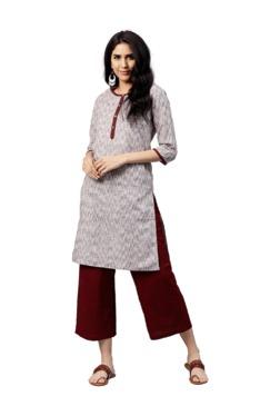 Jaipur Kurti Brown Straight Fit Cotton Kurta