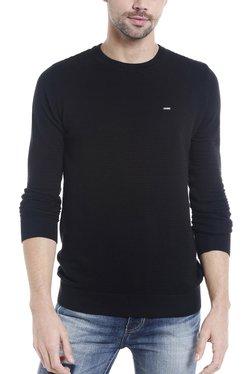 Killer Black Round Neck Full Sleeves Sweater