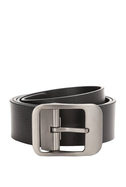 Van Heusen Black Solid Leather Narrow Belt - Mp000000003302210