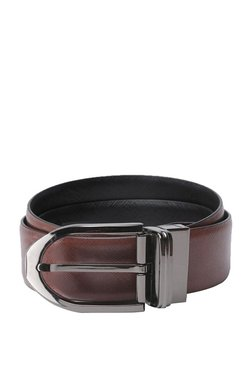 Van Heusen Brown Solid Leather Narrow Belt - Mp000000003301849