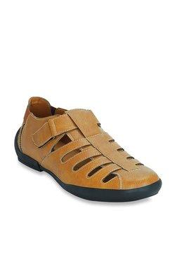 Get Glamr Sentar Tan Fisherman Sandals