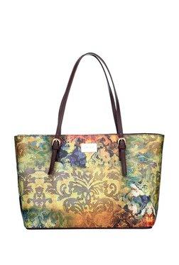 Satya Paul Yellow & Blue Printed Shoulder Bag
