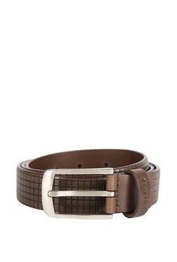 Van Heusen Brown Textured Leather Narrow Belt - Mp000000003302299