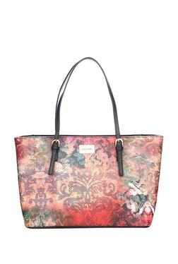 Satya Paul Red & Blue Printed Shoulder Bag