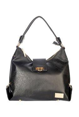 Satya Paul Black Printed Shoulder Bag
