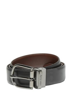 Allen Solly Black Textured Leather Narrow Belt - Mp000000003302382