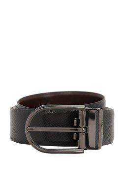 Van Heusen Black Textured Leather Narrow Belt - Mp000000003302947