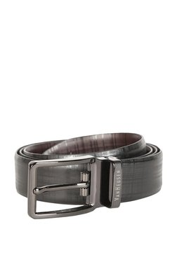 Van Heusen Grey Solid Leather Narrow Belt - Mp000000003303211