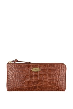 Hidesign Mackenzie W1 Brown Textured Leather Wallet