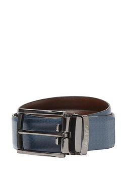 Allen Solly Blue Solid Leather Narrow Belt