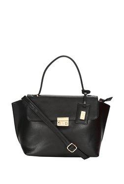 Allen Solly Black Solid Satchel Bag