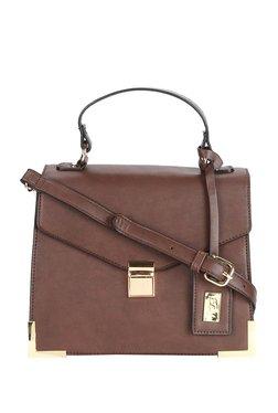 Allen Solly Brown Solid Satchel Bag