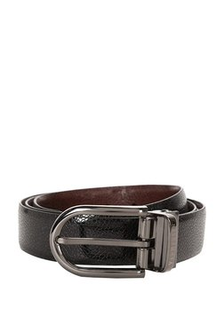 Van Heusen Black & Brown Solid Leather Reversible Belt
