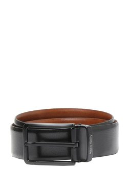 Allen Solly Black Solid Leather Narrow Belt - Mp000000003309824