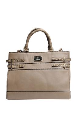 Van Heusen Light Beige Solid Shoulder Bag